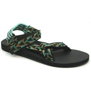 Teva Universal Blue Black Triangle Print Sandals